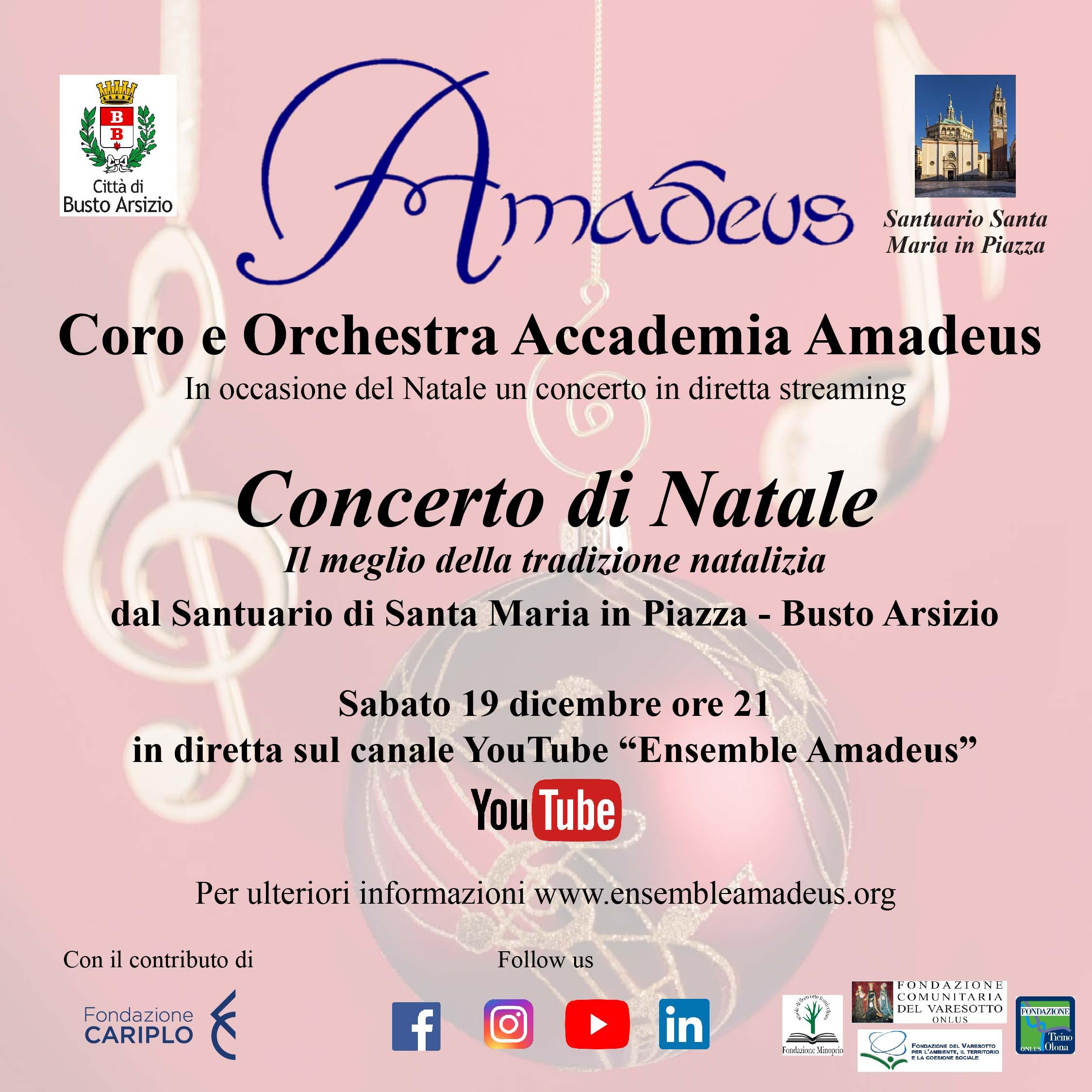 Concerto di Natale diretta Amadeus